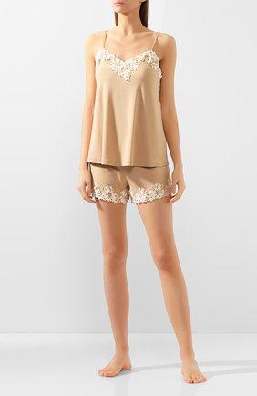 Женские шорты LA PERLA бежевого цвета, арт. 0047840 | Фото 2
