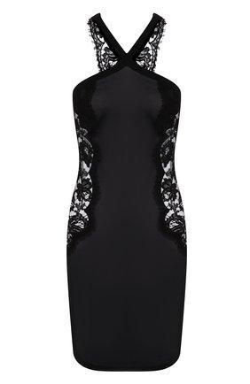Женская шелковая сорочка LA PERLA черного цвета, арт. 0041910   Фото 1