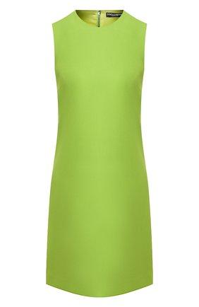 Женское платье DOLCE & GABBANA зеленого цвета, арт. F6B6WT/FURDV | Фото 1