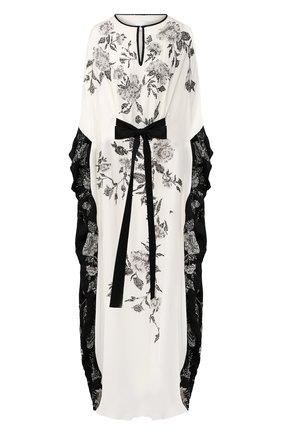 Женское шелковое платье-туника MARCHESA белого цвета, арт. M28704 | Фото 1