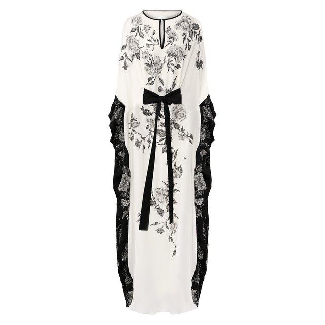 Шелковое платье-туника Marchesa