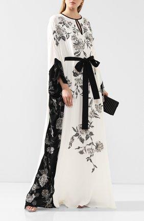 Женское шелковое платье-туника MARCHESA белого цвета, арт. M28704 | Фото 2