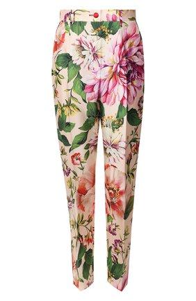 Женские шелковые брюки DOLCE & GABBANA розового цвета, арт. FTAM0T/IS1AE | Фото 1