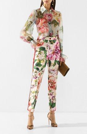 Женские шелковые брюки DOLCE & GABBANA розового цвета, арт. FTAM0T/IS1AE | Фото 2