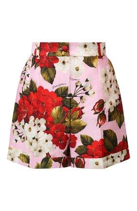Женские шорты из смеси хлопка и шелка DOLCE & GABBANA розового цвета, арт. FTBPYT/HSM20 | Фото 1
