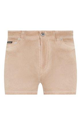 Женские джинсовые шорты DOLCE & GABBANA бежевого цвета, арт. FTBRKD/G898V | Фото 1