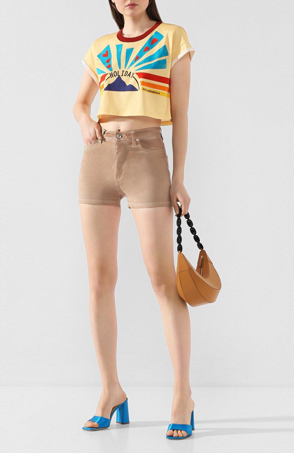 Женские джинсовые шорты DOLCE & GABBANA бежевого цвета, арт. FTBRKD/G898V | Фото 2
