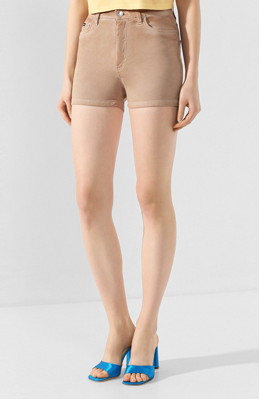Женские джинсовые шорты DOLCE & GABBANA бежевого цвета, арт. FTBRKD/G898V | Фото 3