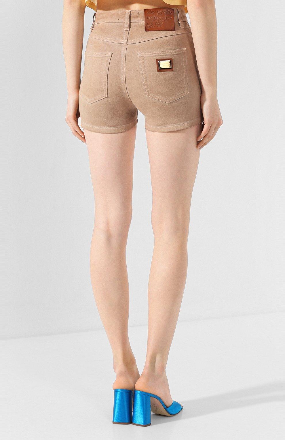 Женские джинсовые шорты DOLCE & GABBANA бежевого цвета, арт. FTBRKD/G898V | Фото 4