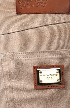 Женские джинсовые шорты DOLCE & GABBANA бежевого цвета, арт. FTBRKD/G898V | Фото 5