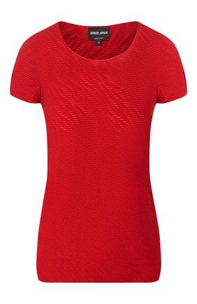 Женская футболка GIORGIO ARMANI красного цвета, арт. 3HAM70/AJHHZ | Фото 1