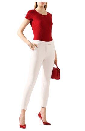 Женская футболка GIORGIO ARMANI красного цвета, арт. 3HAM70/AJHHZ | Фото 2