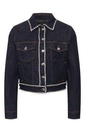 Женская джинсовая куртка DOLCE & GABBANA темно-синего цвета, арт. F9H08Z/G898Z | Фото 1