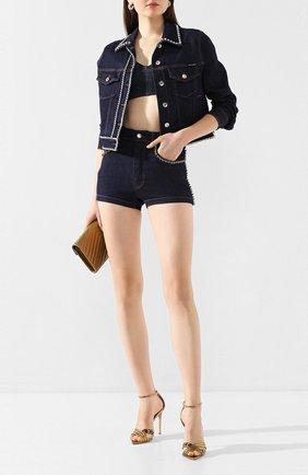 Женская джинсовая куртка DOLCE & GABBANA темно-синего цвета, арт. F9H08Z/G898Z | Фото 2