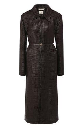 Женское кожаное пальто BOTTEGA VENETA коричневого цвета, арт. 604525/VKMA0 | Фото 1