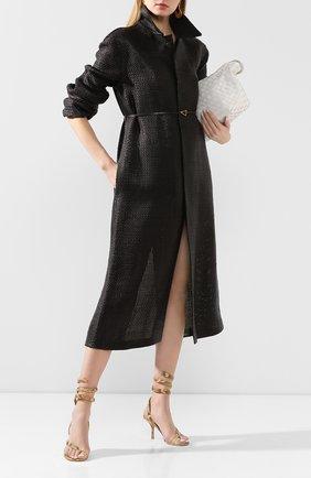 Женское кожаное пальто BOTTEGA VENETA коричневого цвета, арт. 604525/VKMA0 | Фото 2