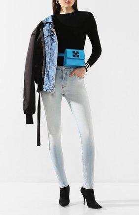 Женская пуловер из вискозы OFF-WHITE черного цвета, арт. 0WHE002R20H330681000 | Фото 2