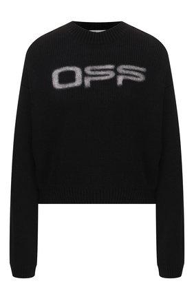 Женская хлопковый свитер OFF-WHITE черного цвета, арт. 0WHE021R20H280871001 | Фото 1