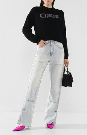 Женская хлопковый свитер OFF-WHITE черного цвета, арт. 0WHE021R20H280871001 | Фото 2