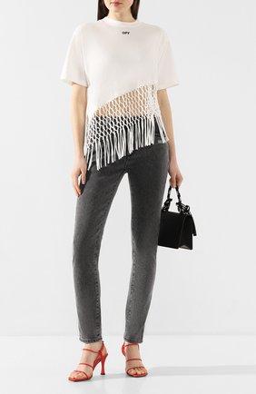 Женские джинсы OFF-WHITE серого цвета, арт. 0WYA003R20E960687500 | Фото 2