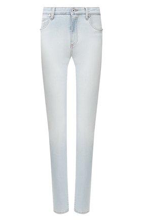 Женские джинсы OFF-WHITE голубого цвета, арт. 0WYA003R20H300687100 | Фото 1 (Длина (брюки, джинсы): Стандартные; Материал внешний: Хлопок, Деним; Статус проверки: Проверена категория; Кросс-КТ: Деним; Стили: Кэжуэл)
