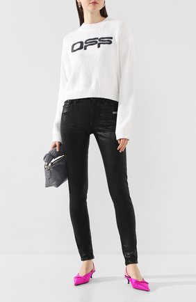 Женские джинсы OFF-WHITE черного цвета, арт. 0WYA003R20H350688600   Фото 2