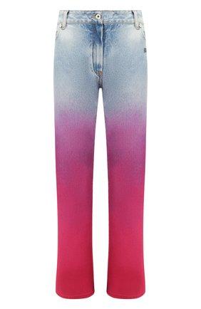 Женские джинсы OFF-WHITE синего цвета, арт. 0WYA004R207730977128   Фото 1