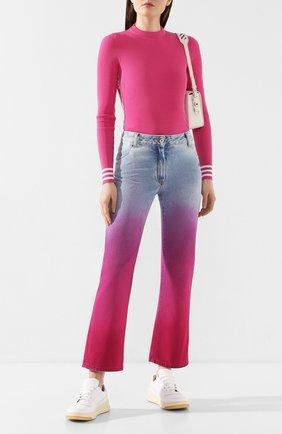 Женские джинсы OFF-WHITE синего цвета, арт. 0WYA004R207730977128   Фото 2