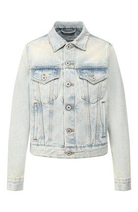 Женская джинсовая куртка OFF-WHITE голубого цвета, арт. 0WYE012R207730687100 | Фото 1