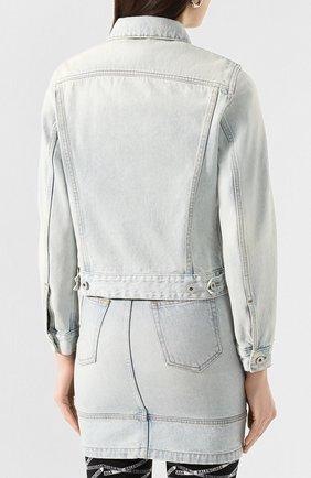 Женская джинсовая куртка OFF-WHITE голубого цвета, арт. 0WYE012R207730687100 | Фото 4