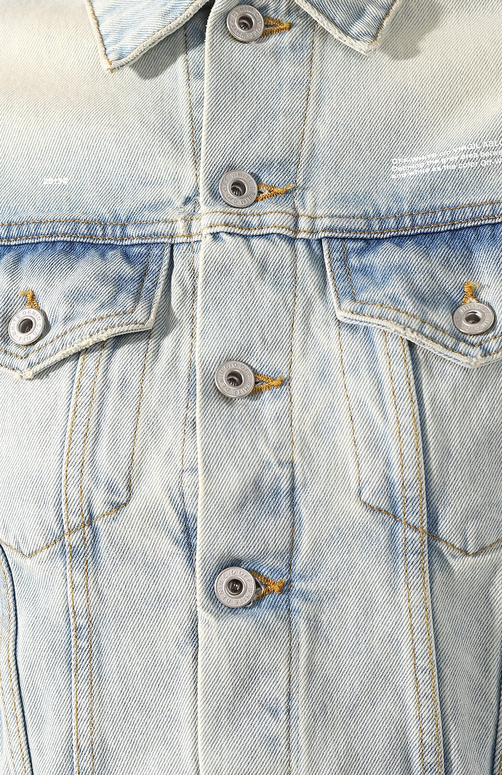 Женская джинсовая куртка OFF-WHITE голубого цвета, арт. 0WYE012R207730687100 | Фото 5