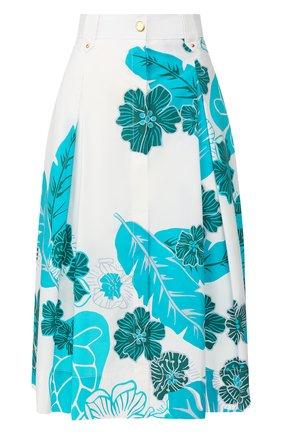 Женская хлопковая юбка ESCADA SPORT бирюзового цвета, арт. 5031824 | Фото 1