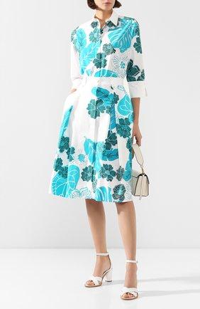 Женская хлопковая юбка ESCADA SPORT бирюзового цвета, арт. 5031824 | Фото 2