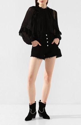 Женская блузка из вискозы ISABEL MARANT ETOILE черного цвета, арт. HT1598-20P031E/JAYDEN   Фото 2