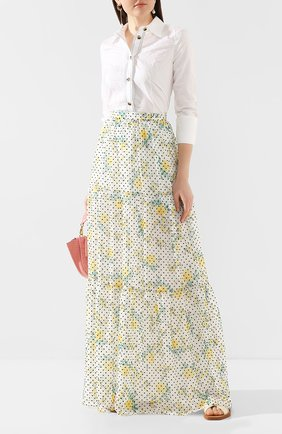 Женская юбка-макси PHILOSOPHY DI LORENZO SERAFINI белого цвета, арт. A0118/755 | Фото 2