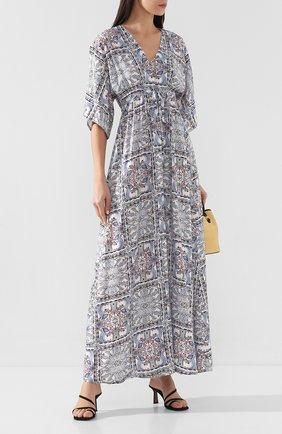 Женское платье с принтом PIETRO BRUNELLI разноцветного цвета, арт. AS1512/VI0058 | Фото 2