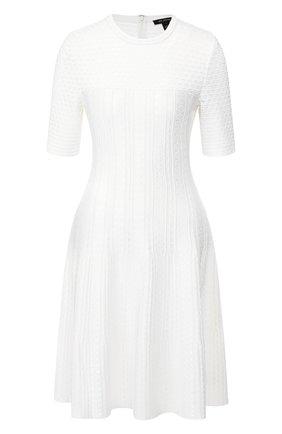 Женское платье из вискозы ST. JOHN кремвого цвета, арт. K11Y0A3 | Фото 1