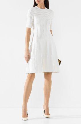 Женское платье из вискозы ST. JOHN кремвого цвета, арт. K11Y0A3 | Фото 2