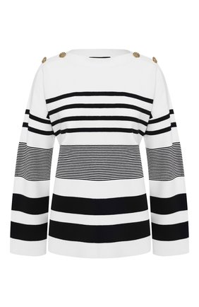 Женская пуловер из вискозы ST. JOHN белого цвета, арт. K50Y083 | Фото 1