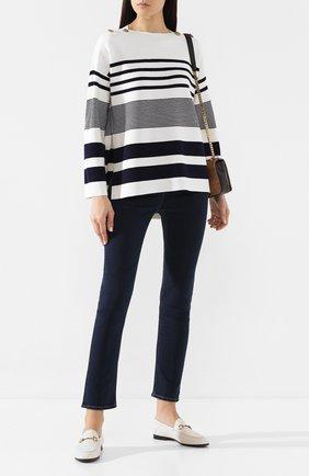 Женская пуловер из вискозы ST. JOHN белого цвета, арт. K50Y083 | Фото 2
