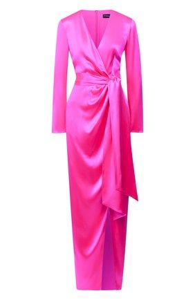 Женское шелковое платье BRANDON MAXWELL фуксия цвета, арт. GN147PS20 | Фото 1