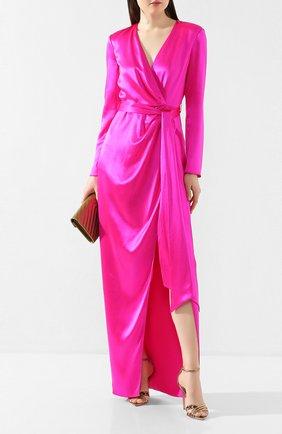 Женское шелковое платье BRANDON MAXWELL фуксия цвета, арт. GN147PS20 | Фото 2