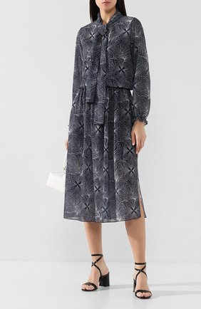 Женское платье-миди SEE BY CHLOÉ синего цвета, арт. CHS20SR035026 | Фото 2