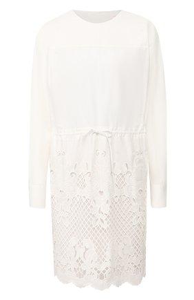 Женское хлопковое платье SEE BY CHLOÉ белого цвета, арт. CHS20SR009022 | Фото 1