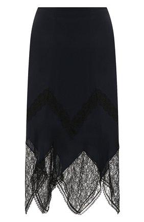 Женская юбка из смеси вискозы и шелка SEE BY CHLOÉ синего цвета, арт. CHS20SJU03014 | Фото 1