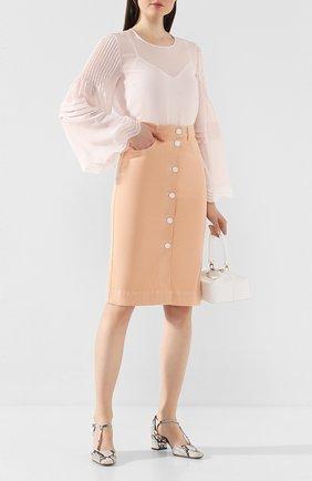 Женская джинсовая юбка SEE BY CHLOÉ бежевого цвета, арт. CHS20SDJ07163 | Фото 2