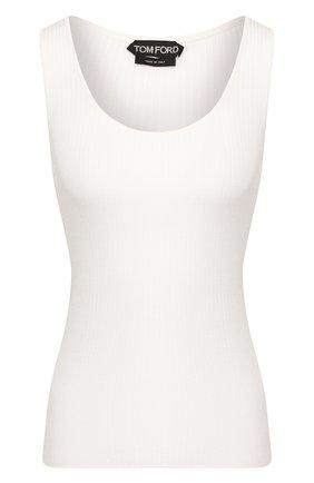 Женская шелковая майка TOM FORD белого цвета, арт. TSK248-YAX255 | Фото 1