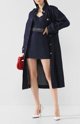 Женское джинсовое платье DOLCE & GABBANA темно-синего цвета, арт. F6D5ED/G899T | Фото 2