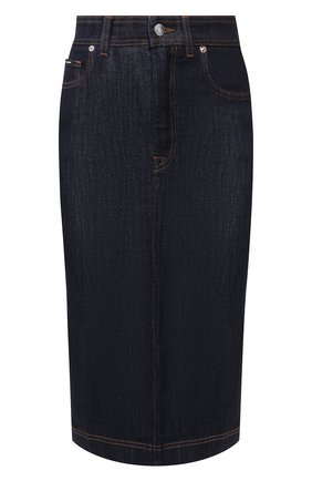 Женская джинсовая юбка DOLCE & GABBANA темно-синего цвета, арт. F4BR8D/G899V | Фото 1