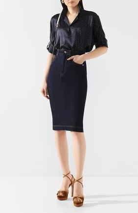 Женская джинсовая юбка DOLCE & GABBANA темно-синего цвета, арт. F4BR8D/G899V | Фото 2